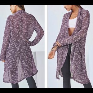 Fabletics Moscow Purple Long Wrap Cardigan Size XL